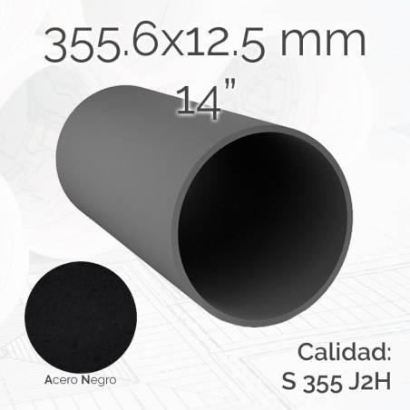 Tubo redondo TURED 355.6 12.5mm S355J2H