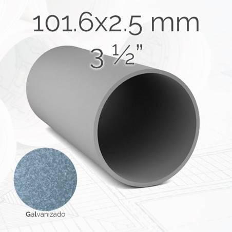 Tubo redondo TURED 101.6 2.5mm