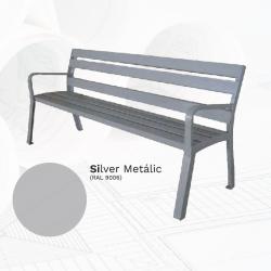 Banco BA007PL Metal Plata