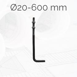 Garrotas Roscadas D20 L600mm