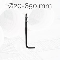 Garrotas Roscadas D20 L850mm