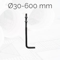 Garrotas Roscadas D30 L600mm