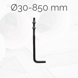 Garrotas Roscadas D30 L850mm