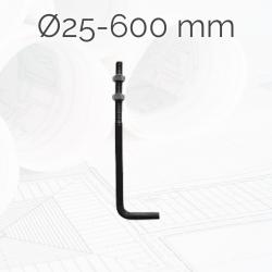 Garrotas Roscadas D25 L600mm