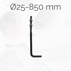 Garrotas Roscadas D25 L850mm