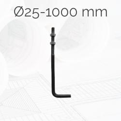 Garrotas Roscadas D25 L1000mm