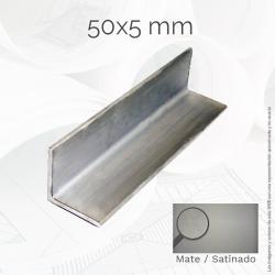 Perfil macizo ángulo 50 5mm...