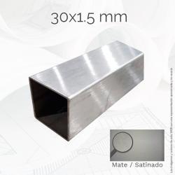 Tubo cuadrado 30 1.5mm Inox...