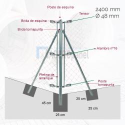 Kit poste esquinero D.48mm...