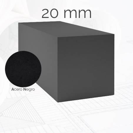 Perfil macizo cuadrado CUA 20mm