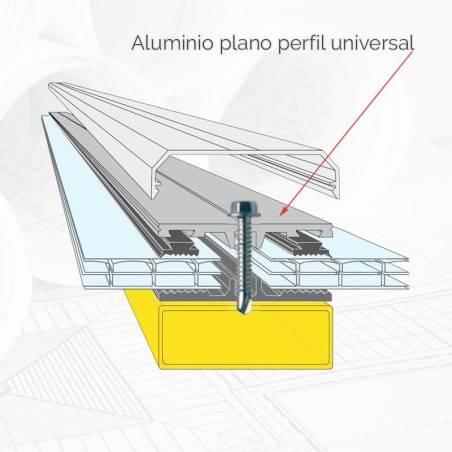 Aluminio plano perfil universal BL