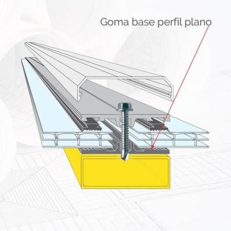 Goma base perfil plano