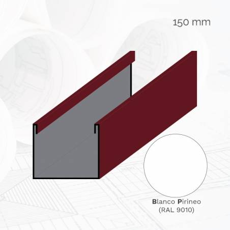 Perfil U frigorífico 3 m E.150 mm Ex.BP