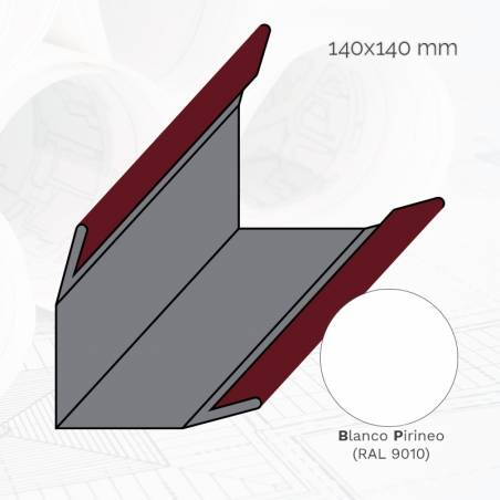 Perfil L frigorífico tipo L140 Ex.BP 3m